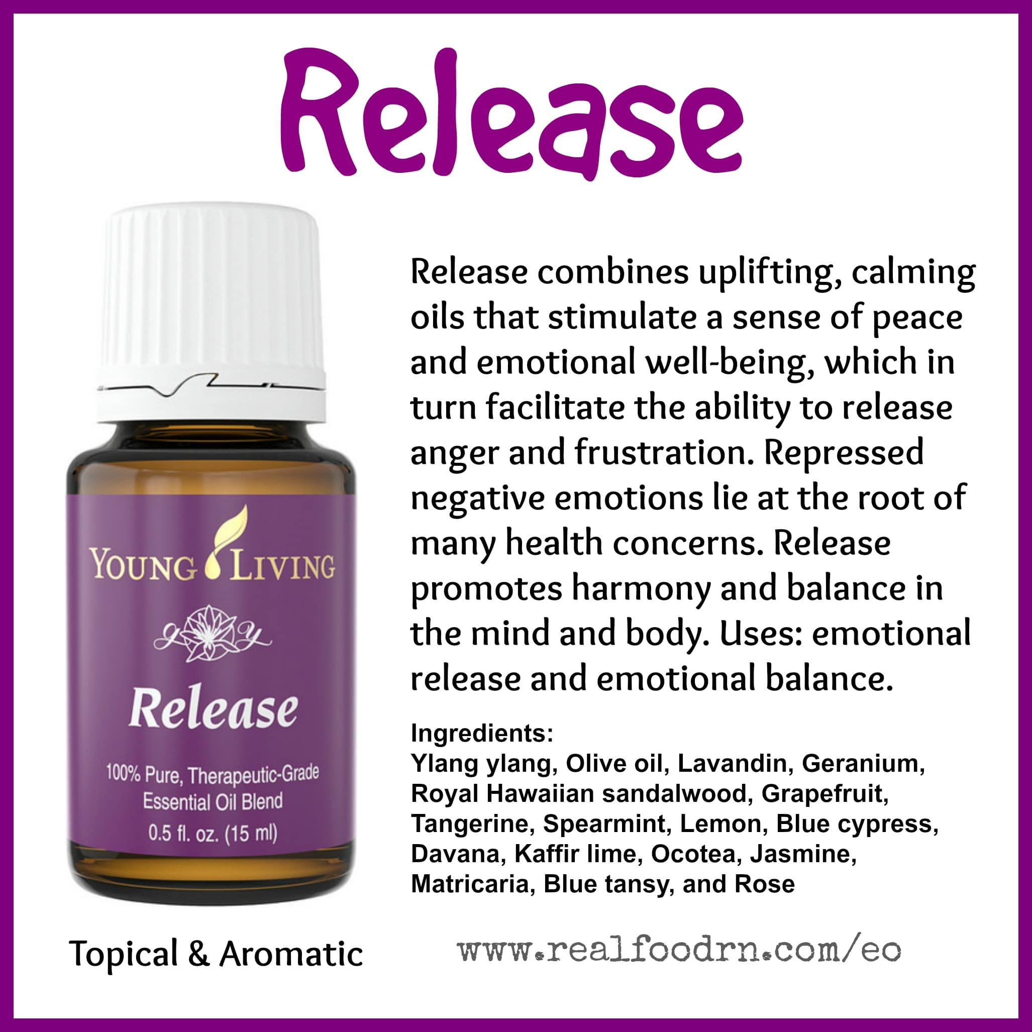 Release Essential Oil Pin