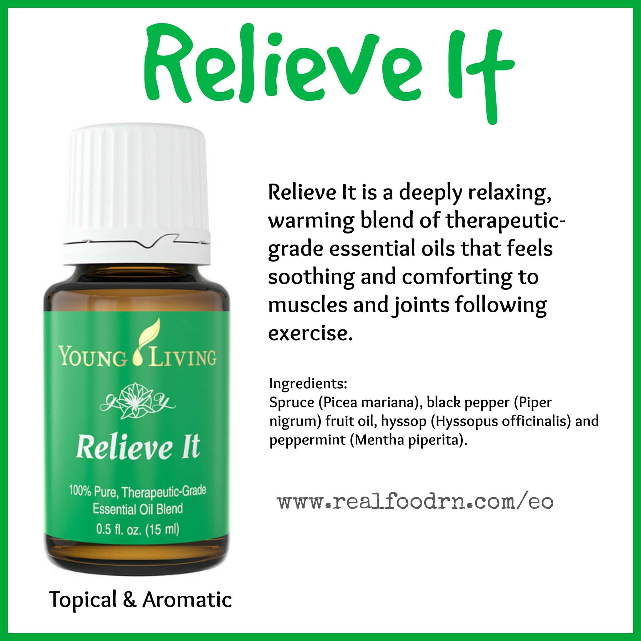 Relieve It Essential Oil Pin
