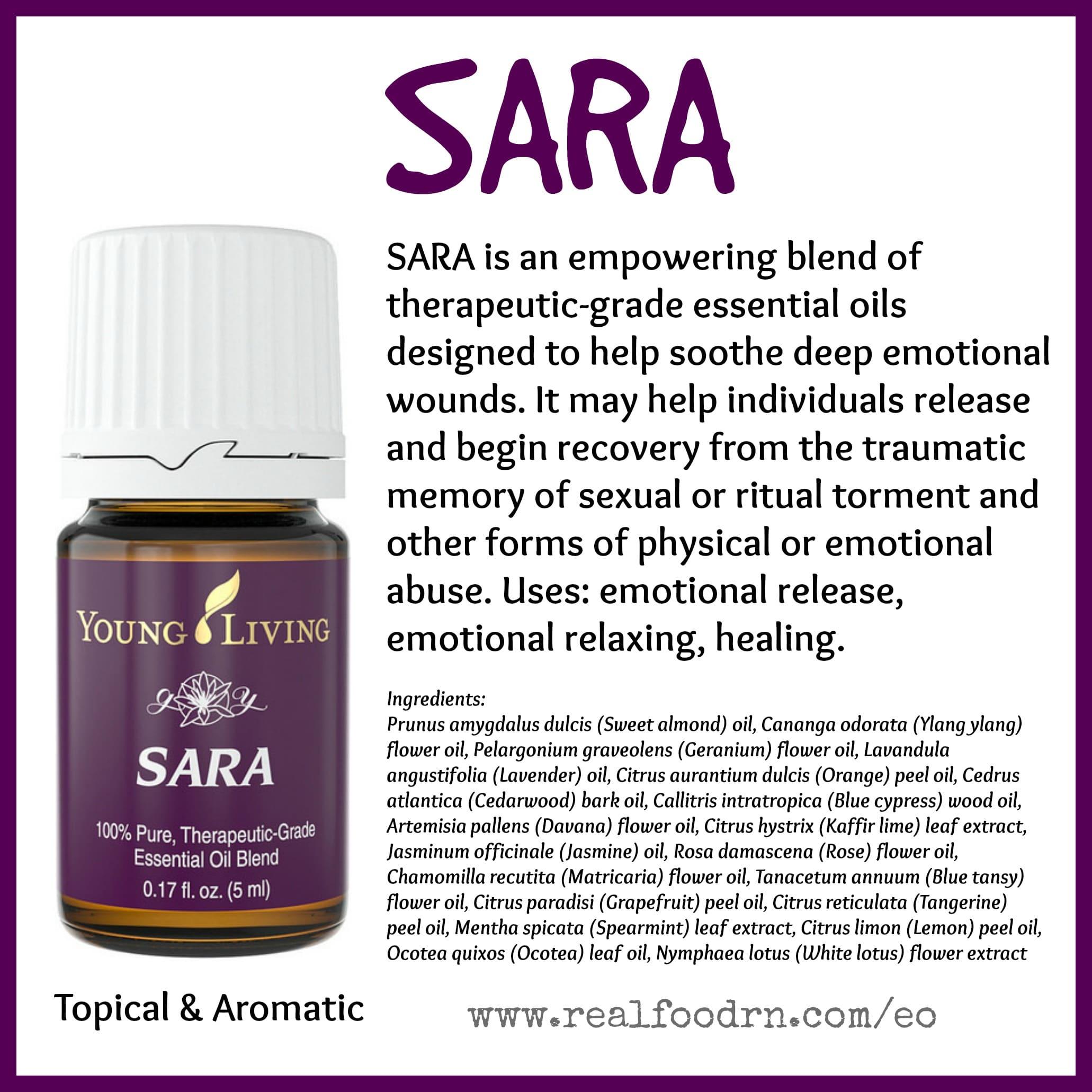 SARA Essential Oil Pin