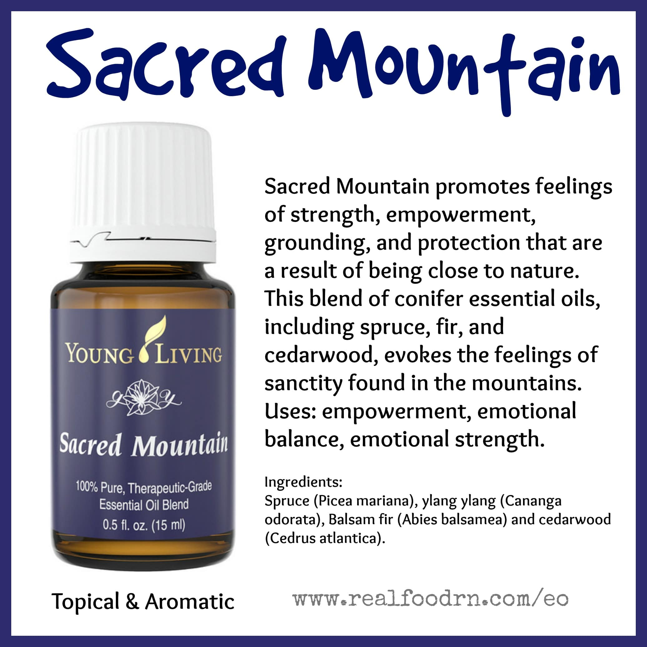 Sacred Mountain Essential Oil Pin