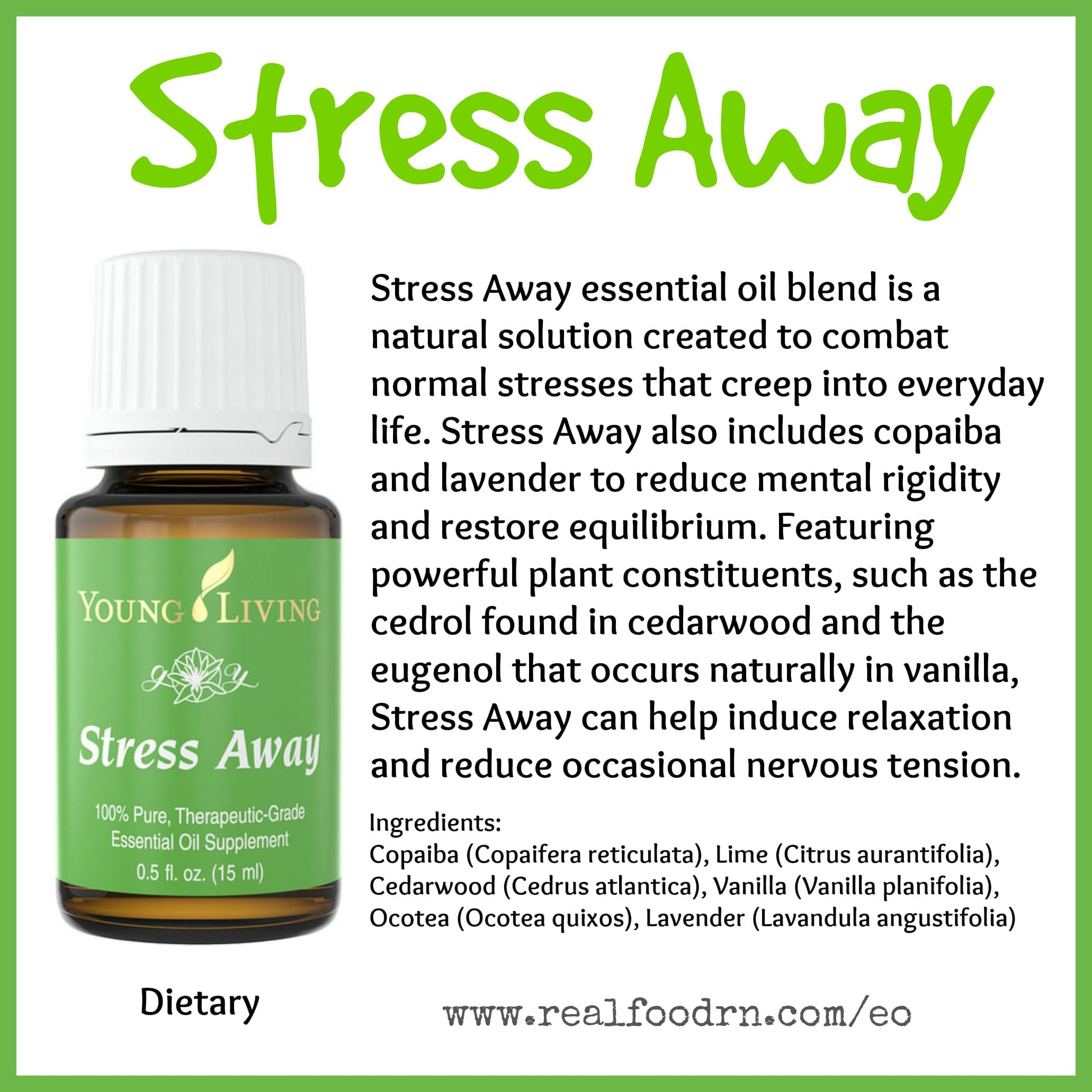 Stress Away Essential Oil Pin