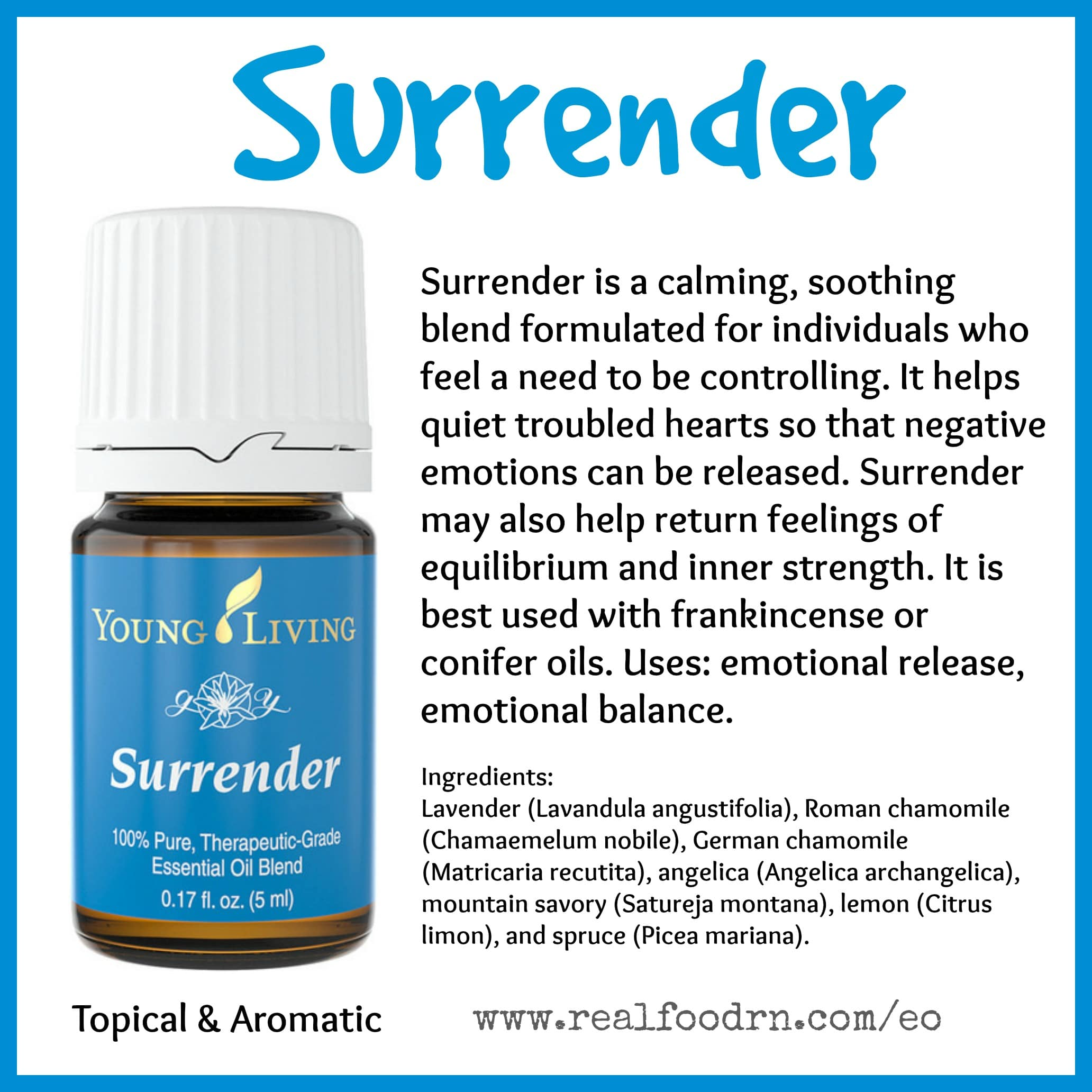 Surrender Essential Oil Pin
