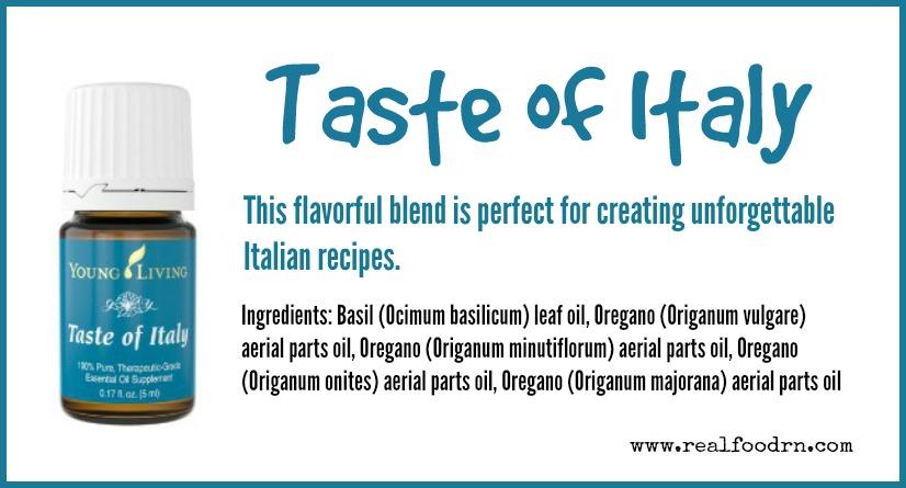 Taste of Italy Essential Oil | Real Food RN