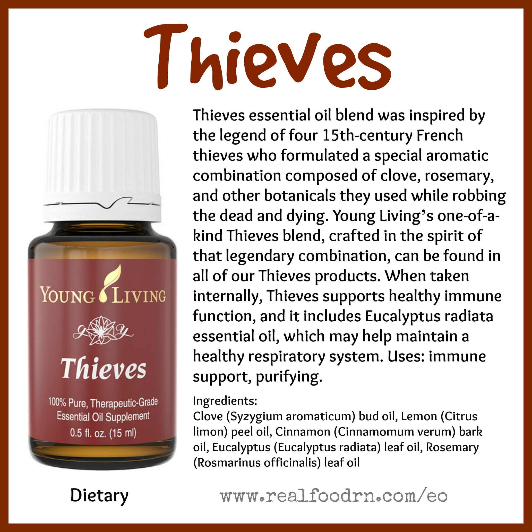 Thieves Essential Oil Pin