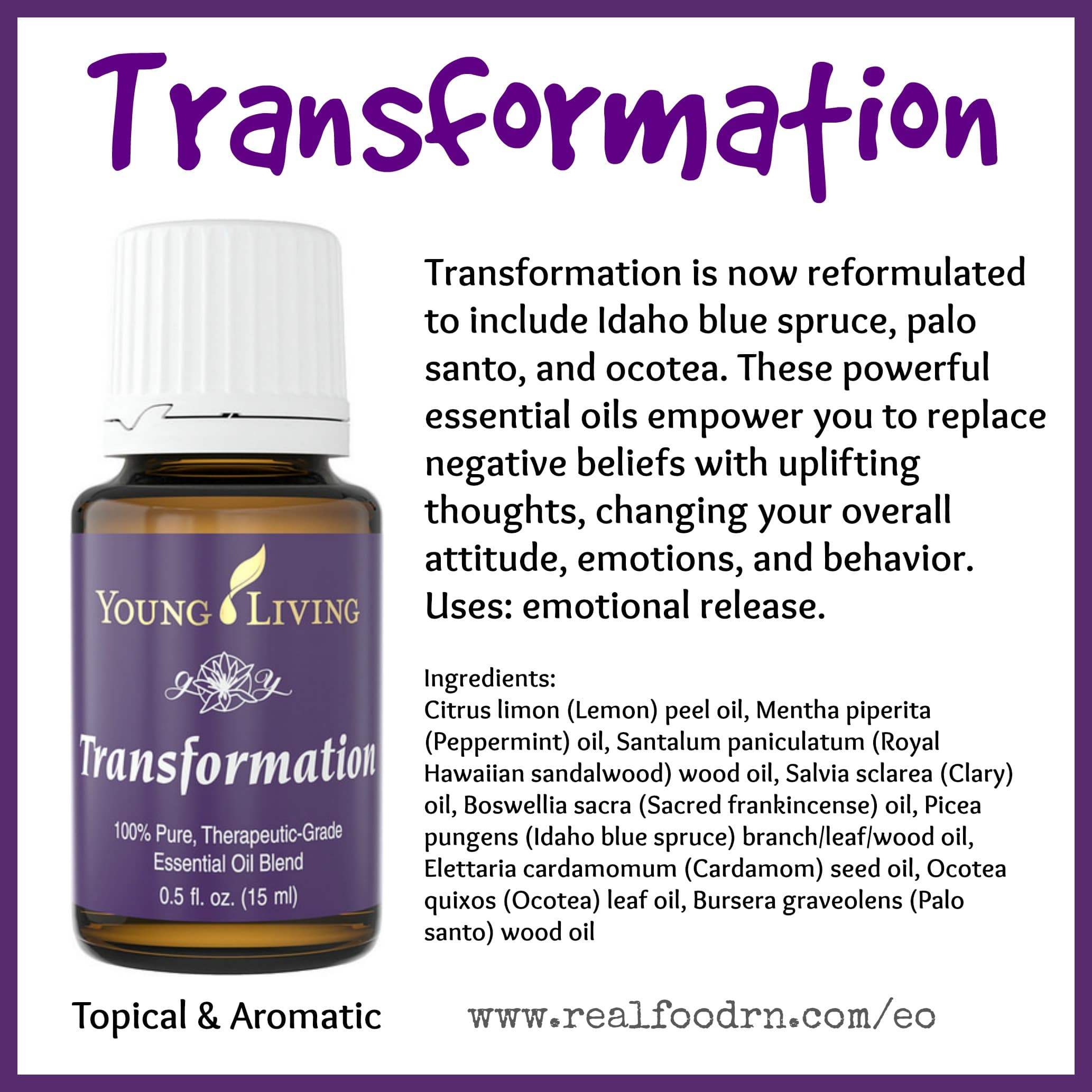 Transformation Essential Oil Pin