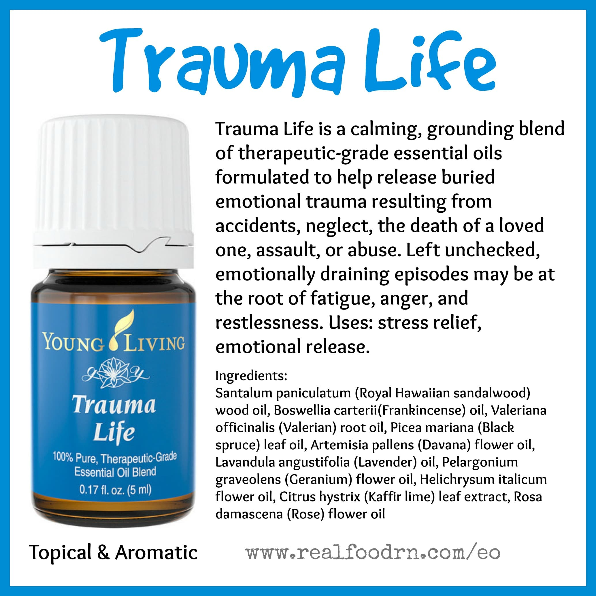 Trauma Life Essential Oil Pin