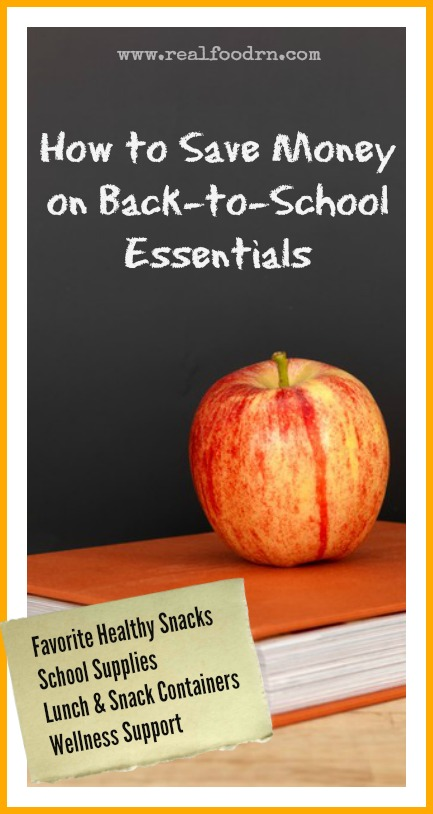 How to Save Money on Back to School Essentials | Real Food RN