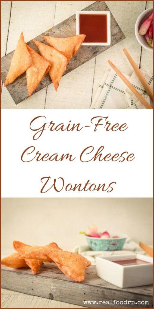 Grain-Free Cream Cheese Wontons | Real Food RN
