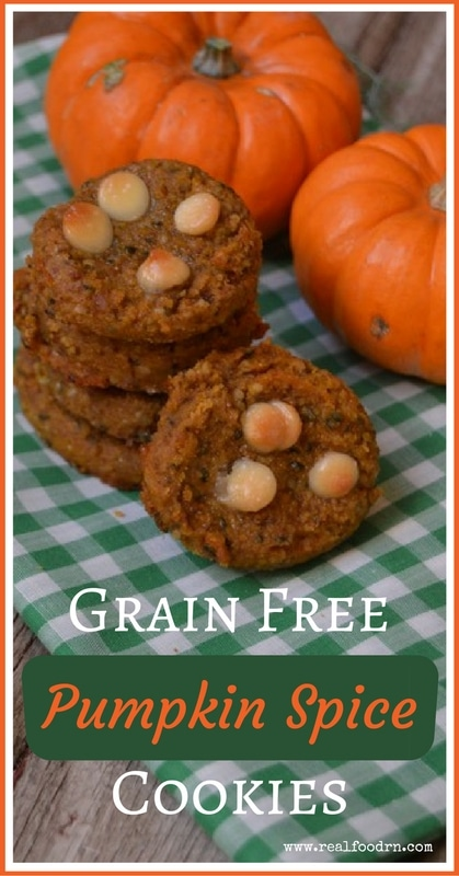 Grain Free Pumpkin Spice Cookies (egg, dairy, and grain free) | Real Food RN