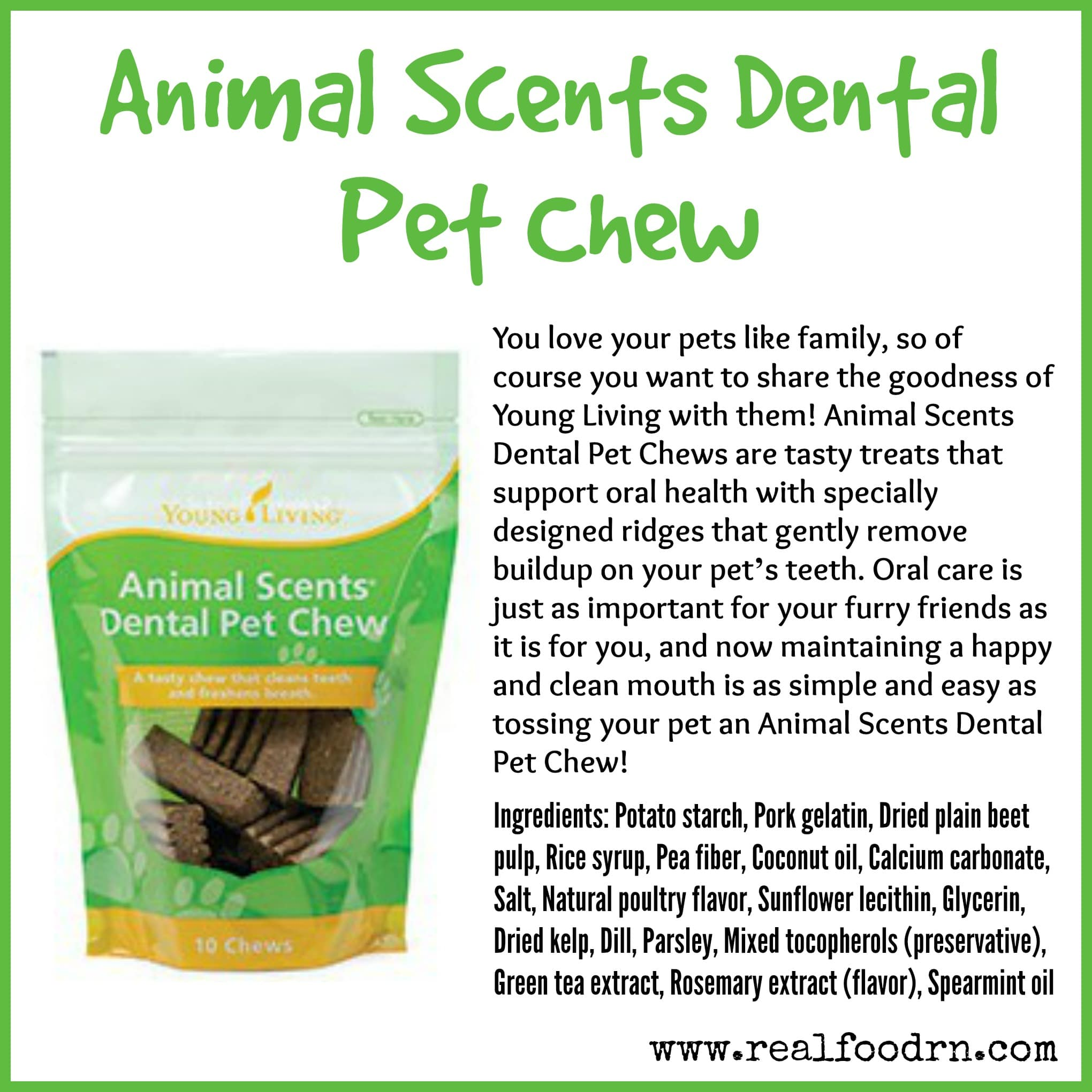 Animal Scents Dental Pet Chew
