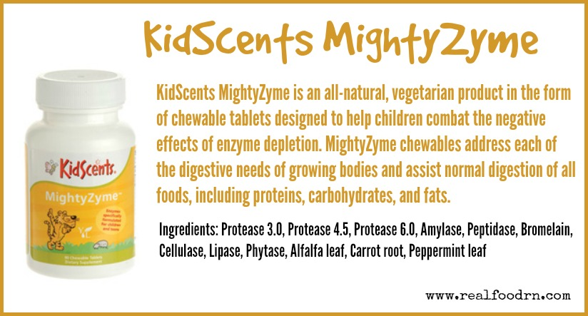 KidScents MightyZyme Chewable Tablets   Real Food RN