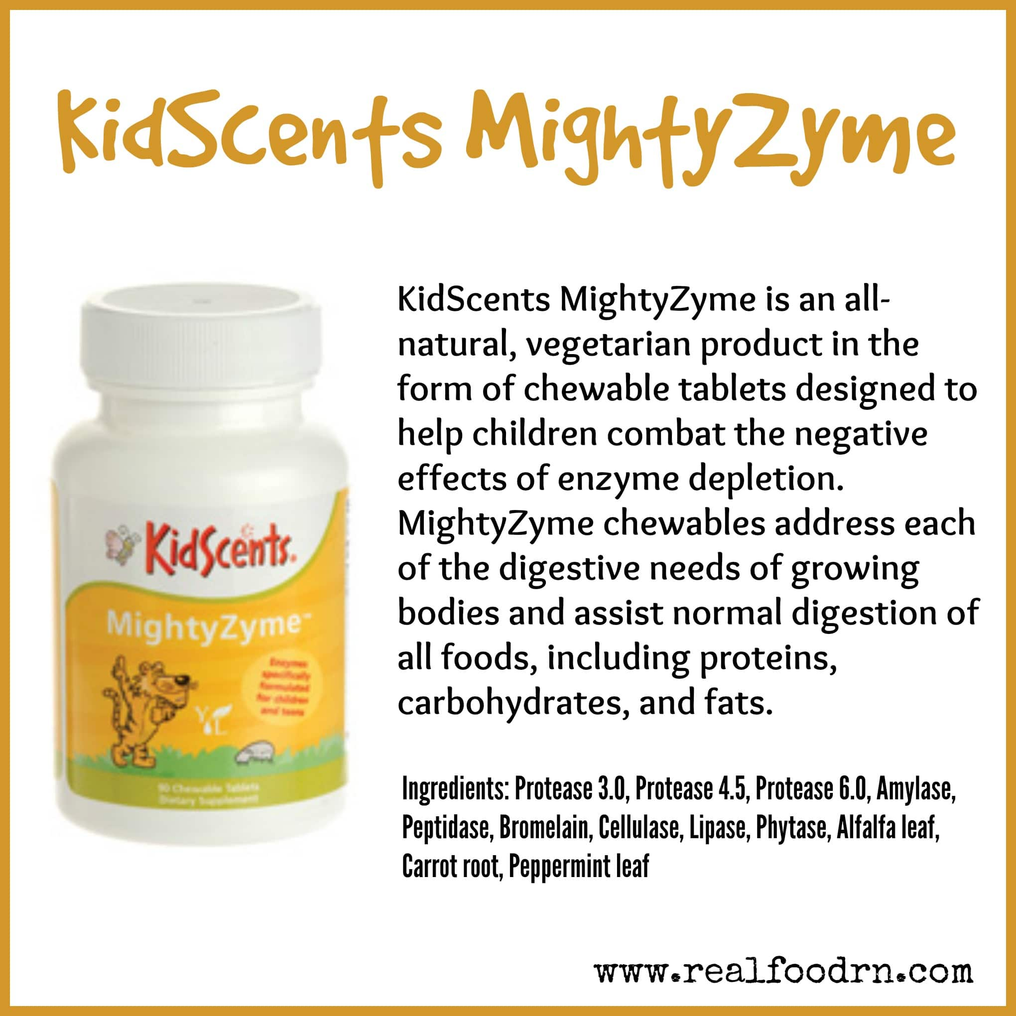 KidScents MightyZyme Chewable Tablets