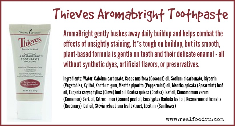Thieves Aromabright Toothpaste | Real Food RN