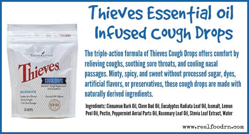 Thieves Essential Oil Infused Cough Drops | Real Food RN