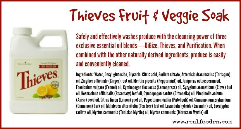 Thieves Fruit & Veggie Soak   Real Food RN