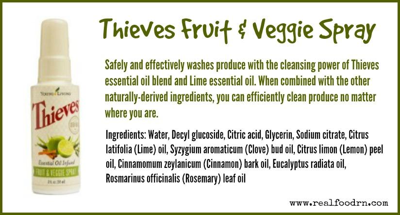 Thieves Fruit Amp Veggie Spray Real Food Rn