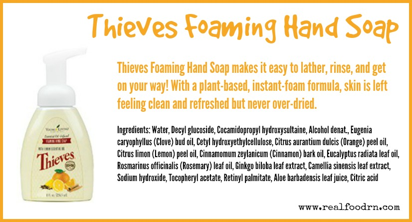 Thieves Foaming Hand Soap | Real Food RN