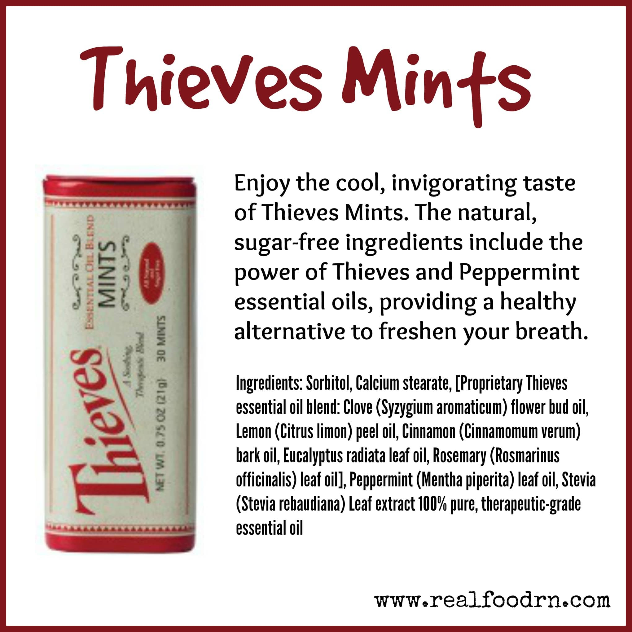 Natural Sugar Free Breath Mints