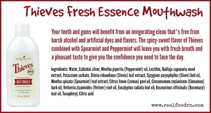 Thieves Fresh Essence Mouthwash | Real Food RN