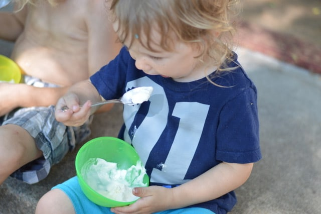 Easy Homemade Vanilla Lavender Ice Cream Kids Eating   Real Food RN