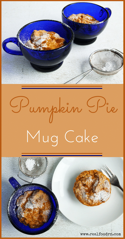 Pumpkin Pie Cake in a Mug | Real Food RN