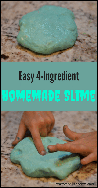 How to make Homemade Slime with 4 Simple Ingredients | Real Food RN