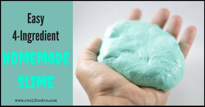 How to make Homemade Slime | Real Food RN