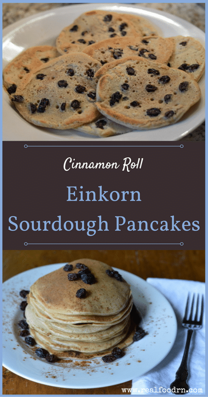 Cinnamon Roll Einkorn Sourdough Pancakes | Real Food RN