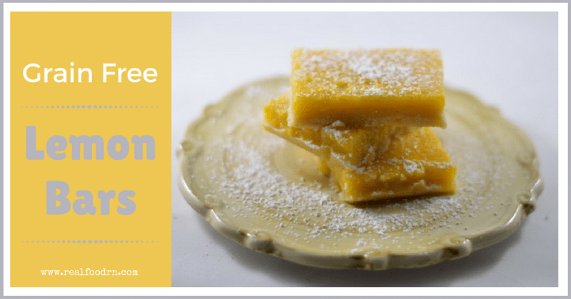 Delicious Grain Free Lemon Bars | Real Food RN