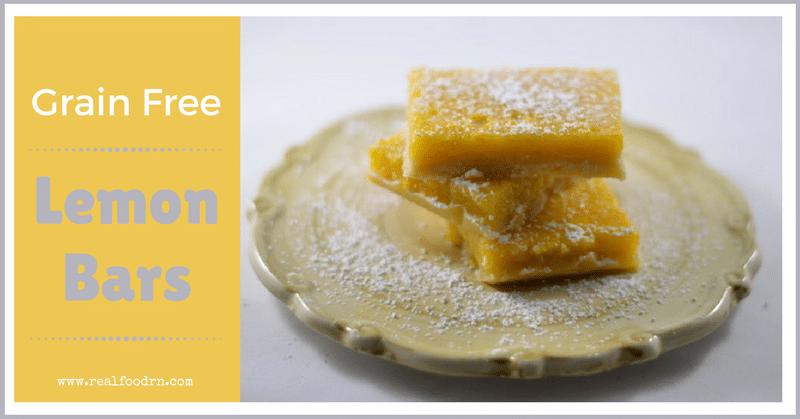 Delicious Grain Free Lemon Bars | Real Food RN