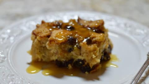 Einkorn Sourdough Bread Pudding with Bourbon Sauce
