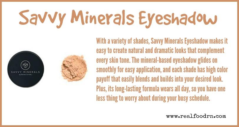Savvy Minerals Eyeshadow | Real Food RN
