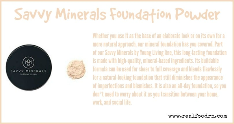 Savvy Minerals Foundation Powder | Real Food RN