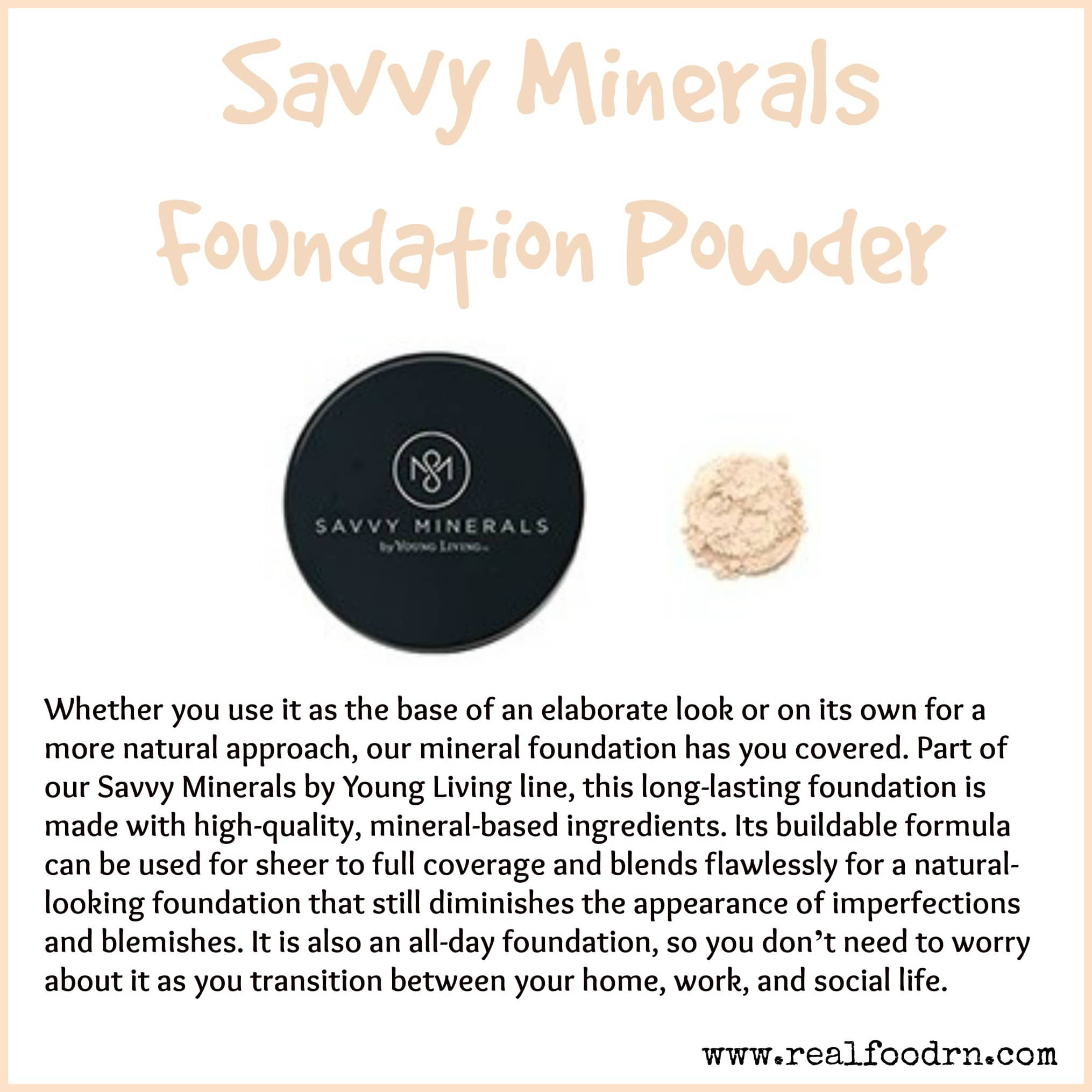 Savvy Minerals Foundation Powder