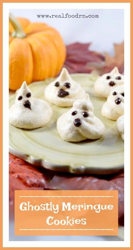 Ghostly Meringue Cookies | Real Food RN