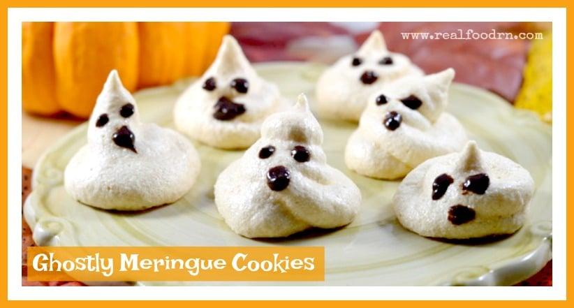 Ghostly Meringue Cookies - Real Food RN