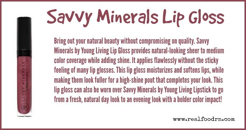 Savvy Minerals Lip Gloss | Real Food RN
