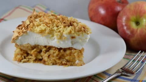 Meringue Topped Polish Grain-Free Apple Pie