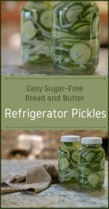 Easy Sugar-Free Bread and Butter Refrigerator Pickles | Real Food RN