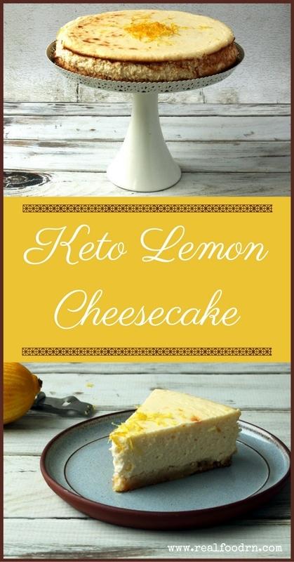 Keto Lemon Cheesecake | Real Food RN