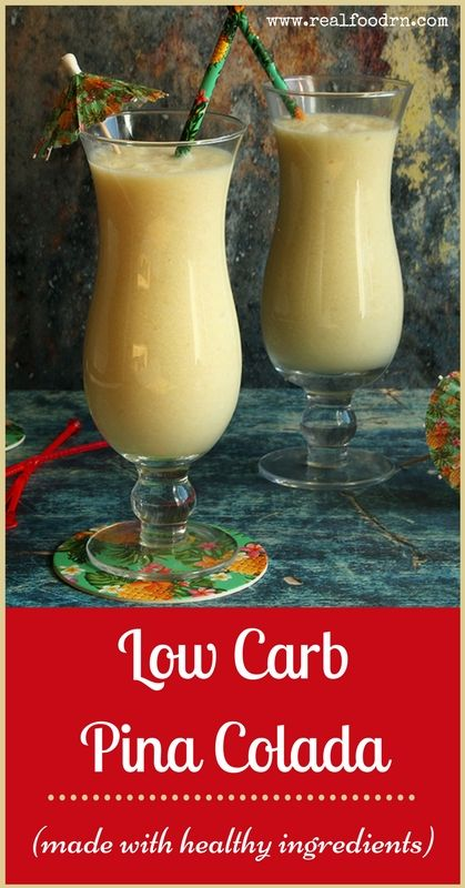 Low Carb Pina Colada Recipe (made with healthy ingredients!) | Real Food RN