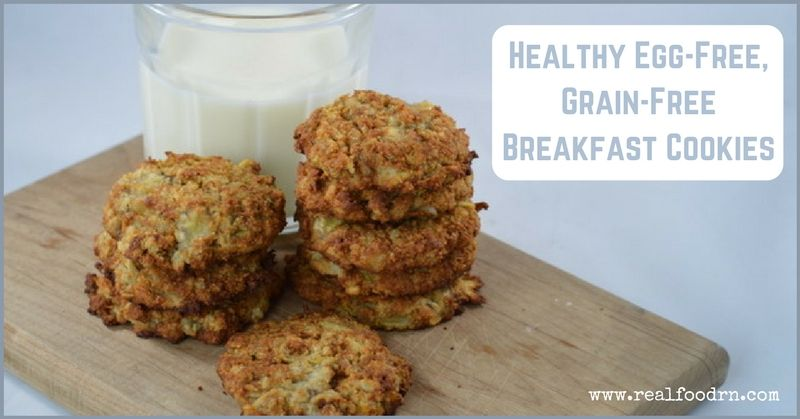 Healthy Egg-Free, Gluten Free Breakfast Cookies | Real Food RN