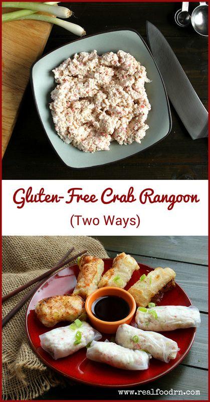 Gluten-Free Crab Rangoon (Two Ways) | Real Food RN