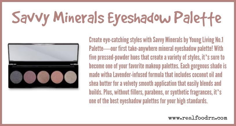Savvy Minerals Eyeshadow Palette | Real Food RN