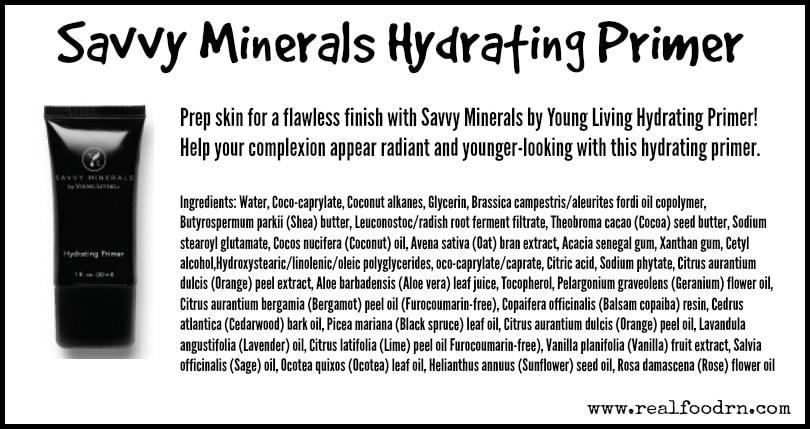 Savvy Minerals Hydrating Primer | Real Food RN