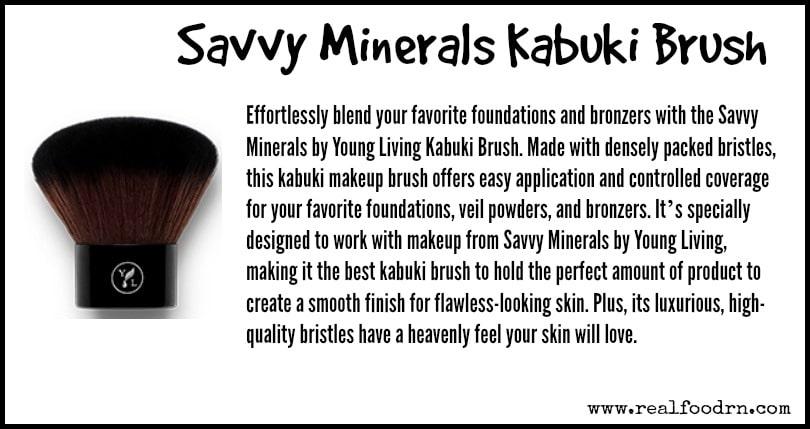 Savvy Minerals Kabuki Brush | Real Food RN