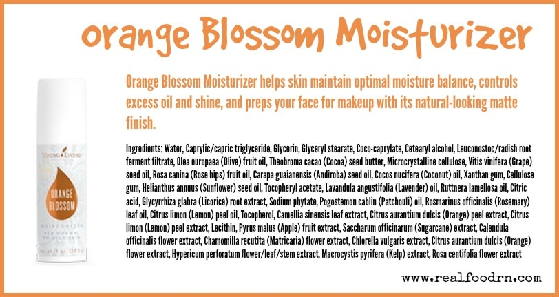 Orange Blossom Moisturizer   Real Food RN