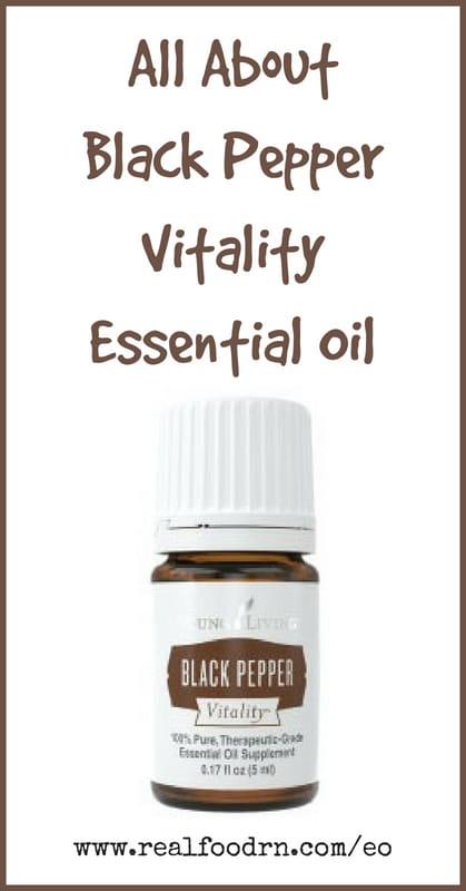 Black Pepper Vitality Essential Oil | Real Food RN