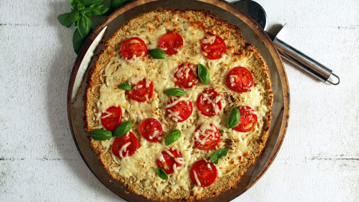 Grain-Free Fresh Tomato & Basil Cauliflower Pizza | Real Food RN