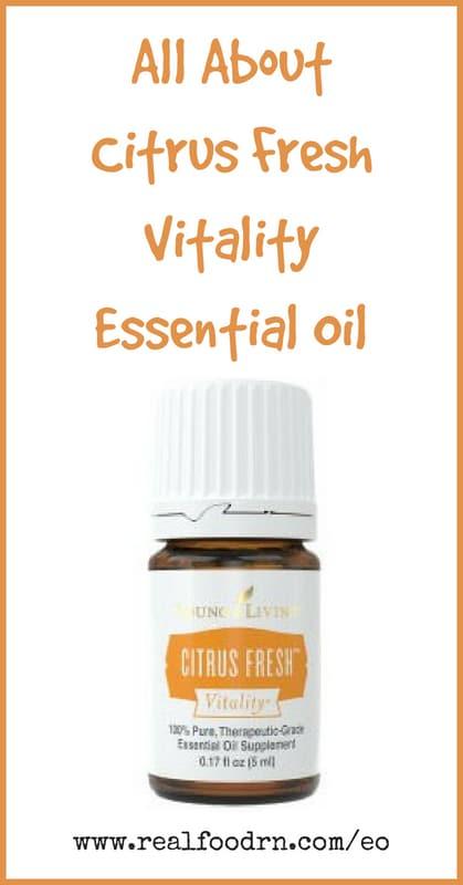 Citrus Fresh Vitality Essential Oil | Real Food RN